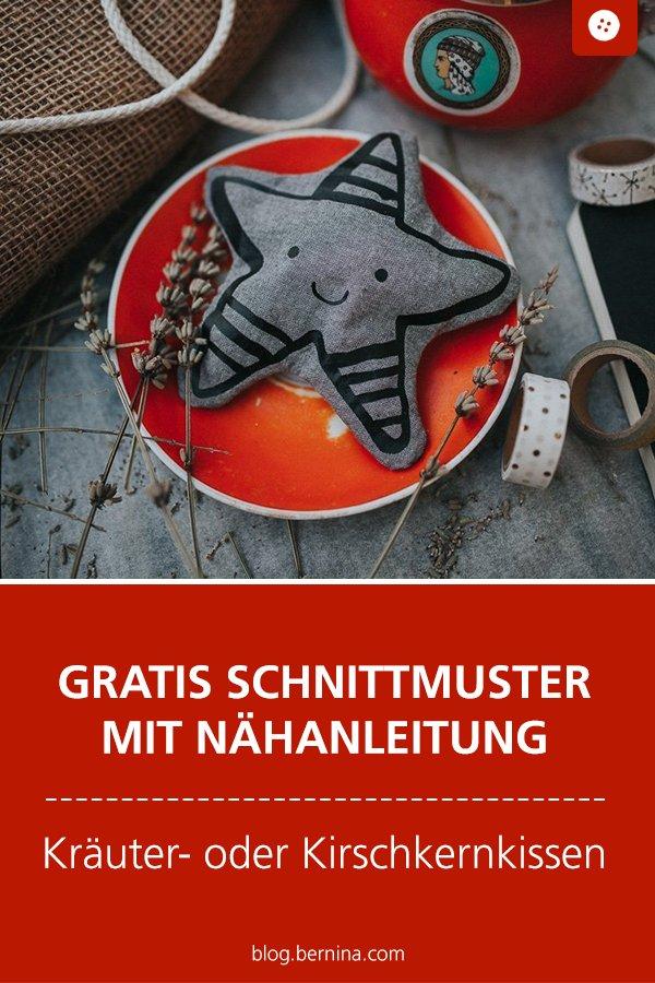 ratis Schnittmuster mit Nähanleitung (Freebook): Kräuter- oder Kirschkernkissen