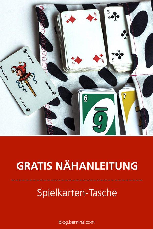 Kostenlose Nähanleitung: Spielkarten-Tasche