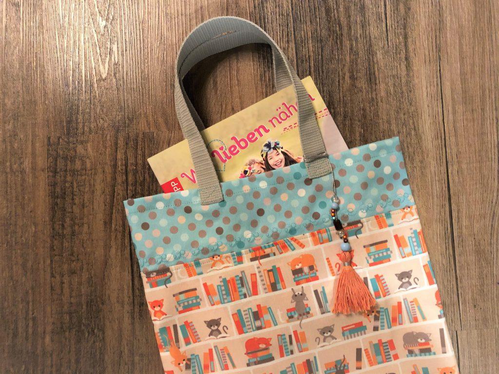 Nähanleitung für eine kleine Büchertasche