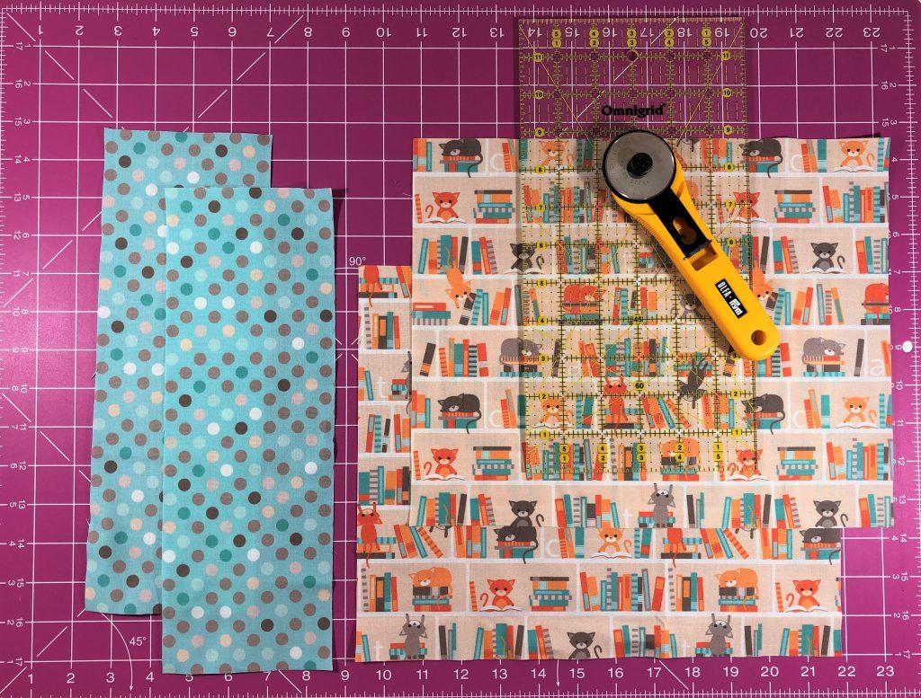 Büchertasche nähen – Stoffe zuschneiden