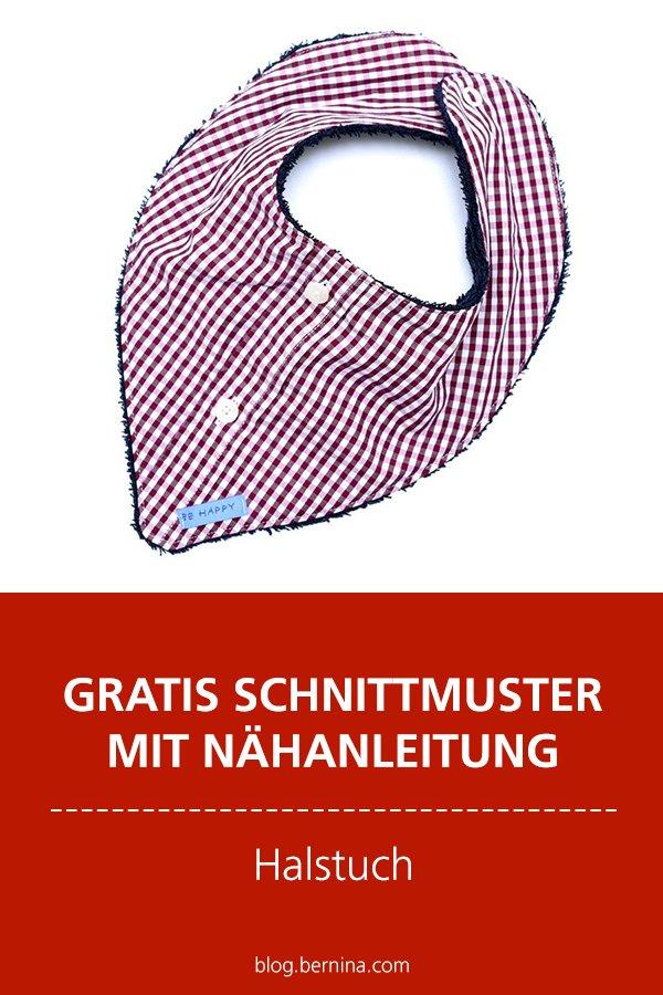 Gratis-Schnittmuster & Nähanleitung: Halstuch aus einem Hemd nähen (Upcycling)