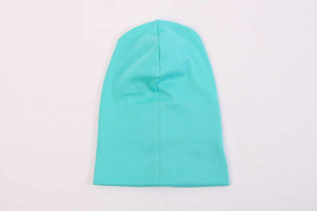 Beanie nähen: Die Mütze wird ineinander gestülpt