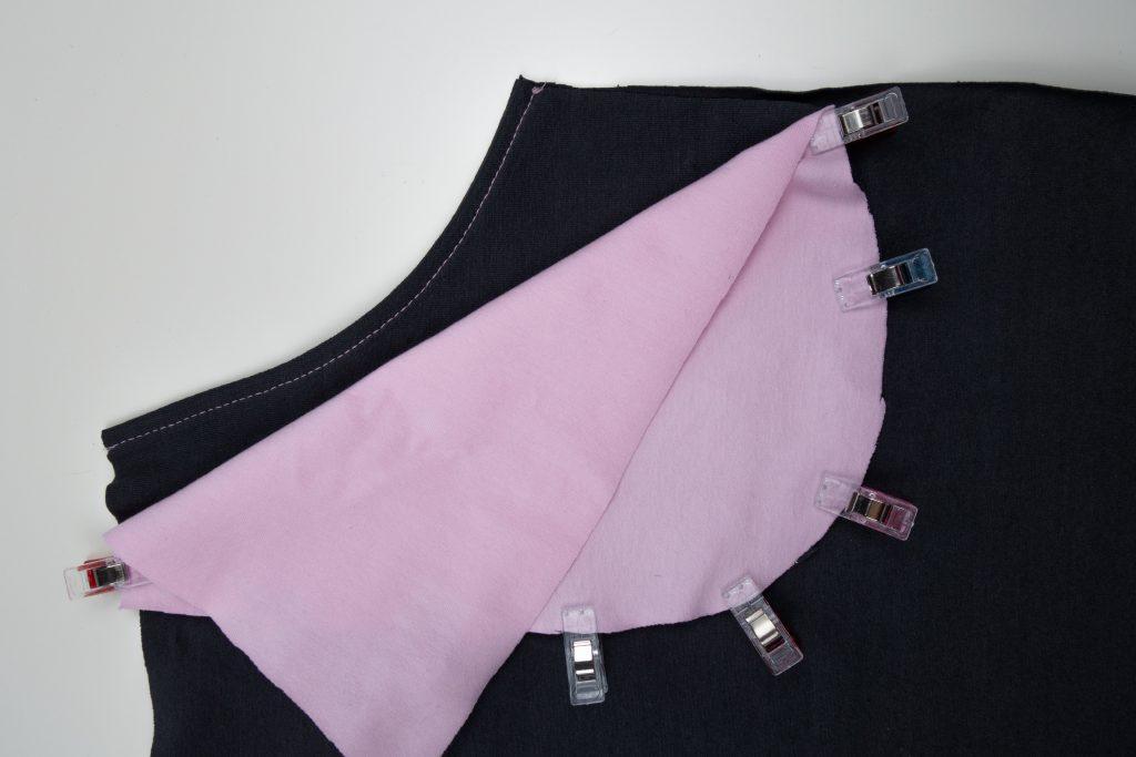 Hüftpassen an Taschenbeutel annähen