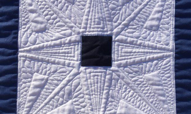 Stern in der Mitte des Quilts