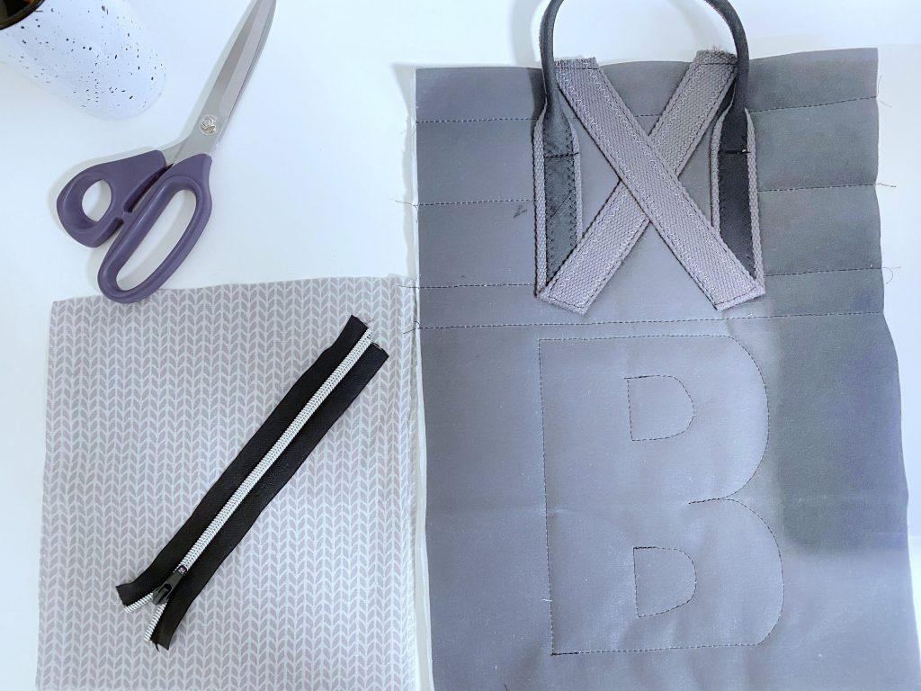 Reißverschlusstasche nähen: unser Material