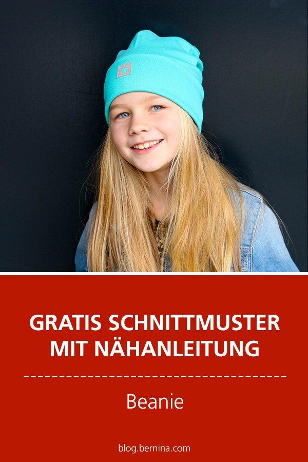 Gratis-Schnittmuster & Nähanleitung: Beanie / Skater-Mütze