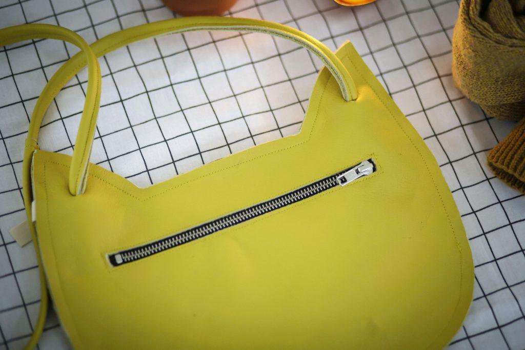 Nähen mit Leder: Tasche aus Lederreste