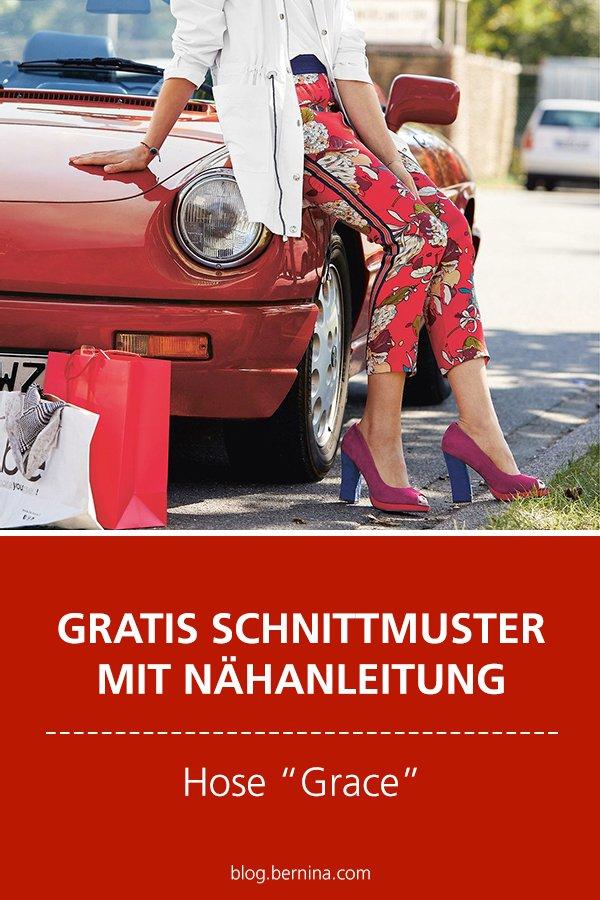 """Gratis-Schnittmuster & Nähanleitung: Damen-Hose """"Grace"""" #nähen"""