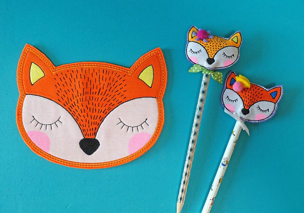 "Kostenloses Stickmuster: Mugrug Fuchs ""in the hoop"""