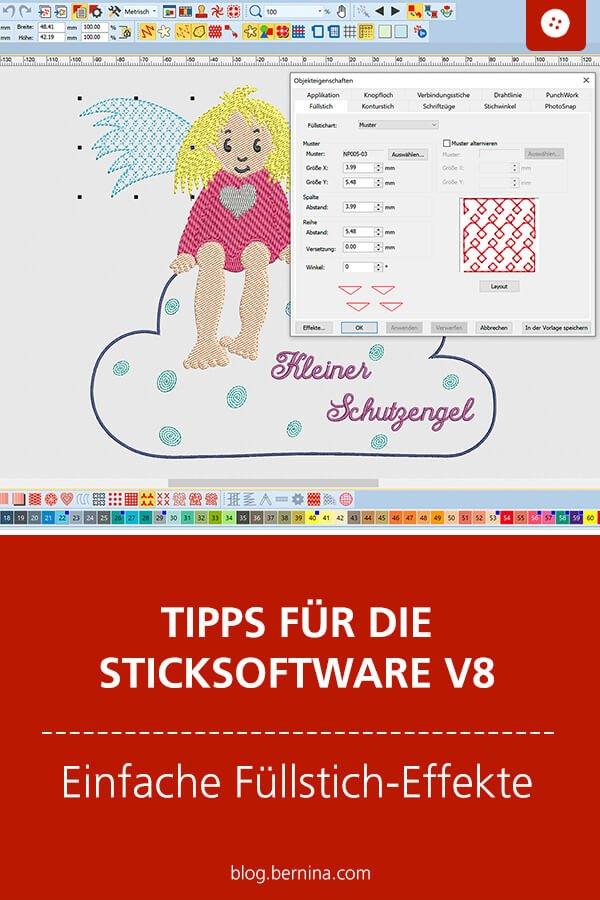 Stickserie Schutzengel mit der BERNINA Sticksoftware V8 erstellt - Stickdatei in drei tollen Varianten, inkl. Applikation - Selbermachen macht glücklich