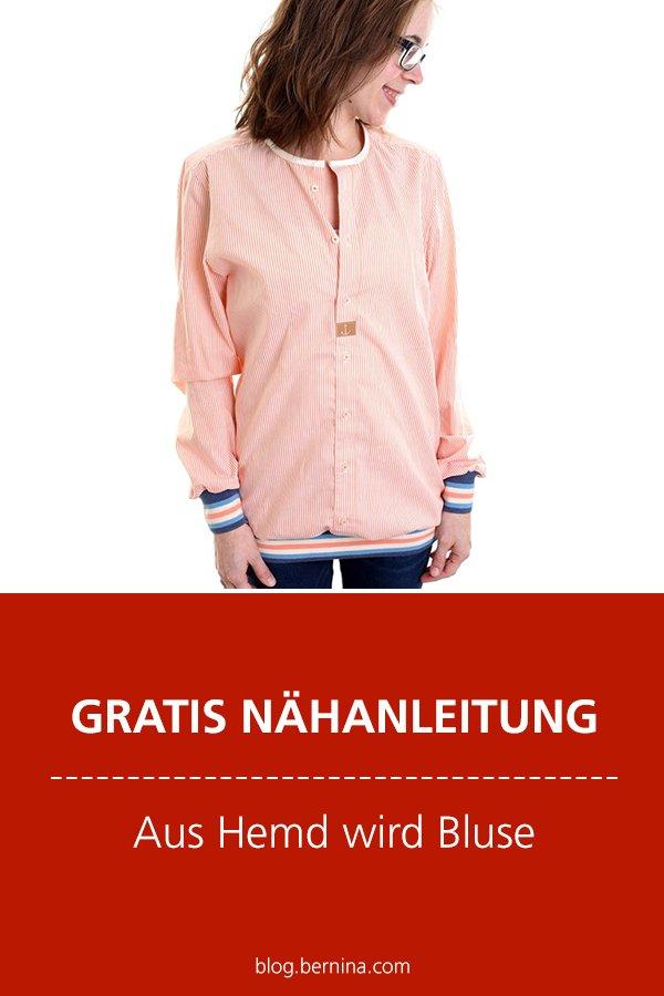 Kostenlose Anleitung: Aus Hemd wird Bluse (Upcycing-Projekt)