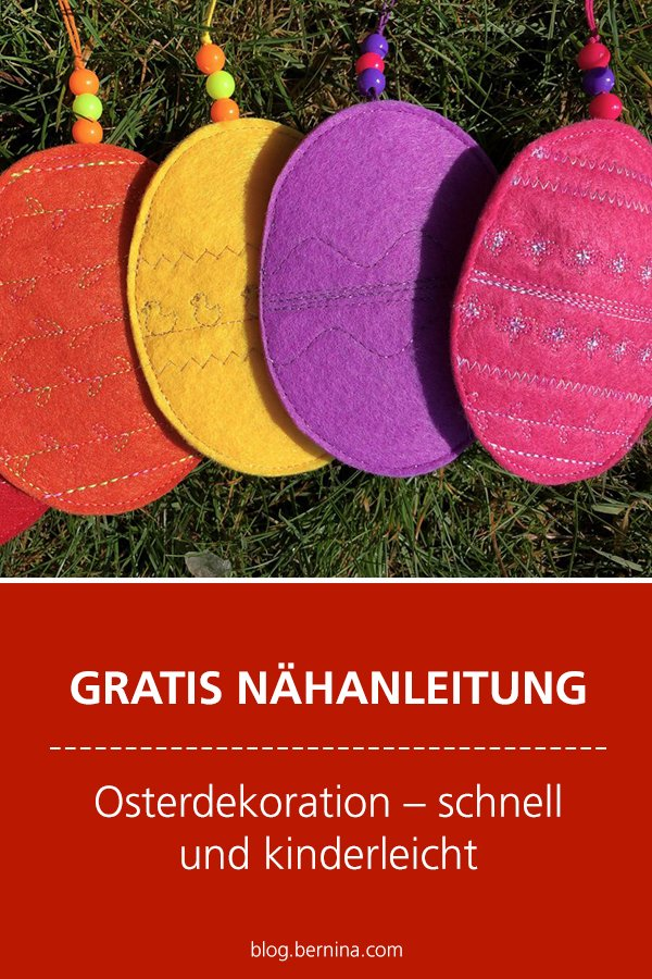 Kostenlose Nähanleitung: Oster-Deko nähen
