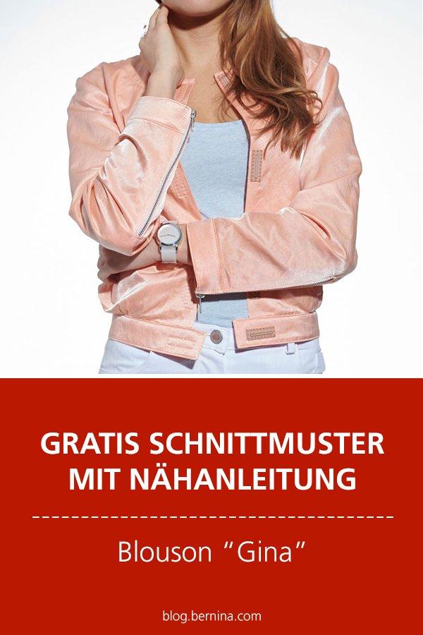 "Gratis-Schnittmuster & Nähanleitung: Blouson ""Gina"" #nähen"
