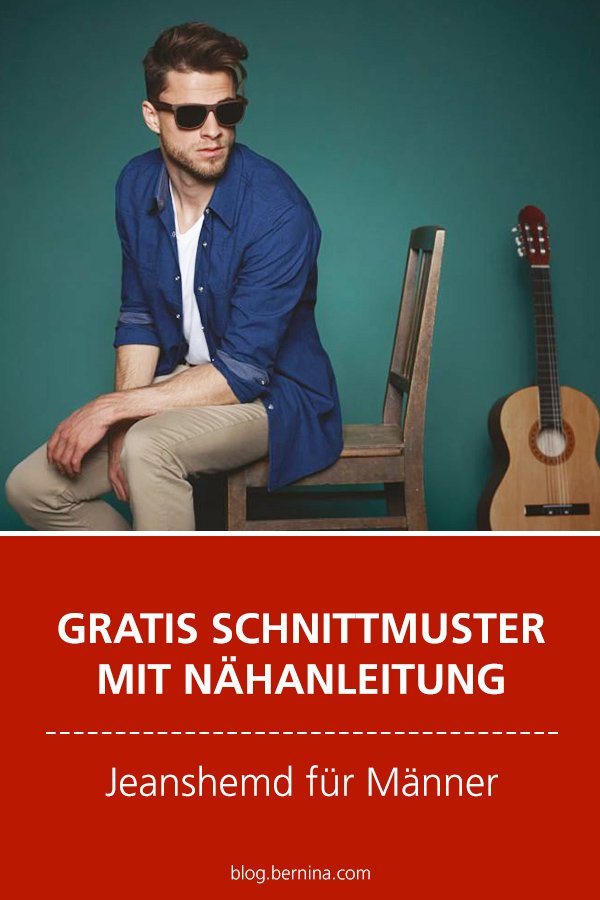 Gratis-Schnittmuster & Nähanleitung: Jeanshemd für Männer nähen