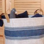 Ein Stoffkorb fürs Kinderzimmer mit Kappnähten
