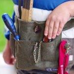 Praktischer Werkzeuggürtel für kleine Handwerker