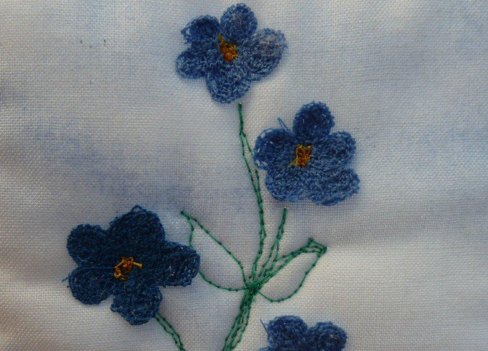 Freihandsticken: 3D Blüten
