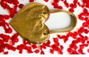 tas naaien hart goud valentijnsdag
