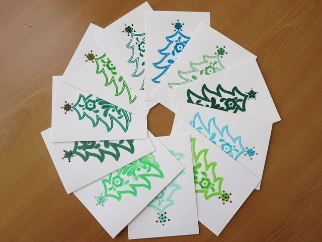 How to make individual christmas cards