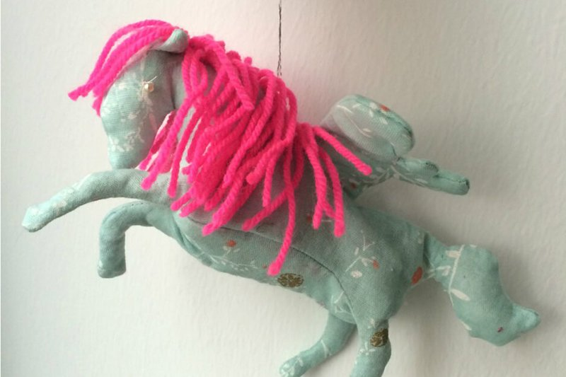 Easy instructions for sewing a christmas pegasus (with free pattern)