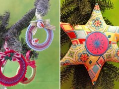 How to make decorative Christmas tree pendants (with free pattern)