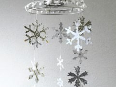 Making a Christmas chandelier (with free Cutwork pattern)