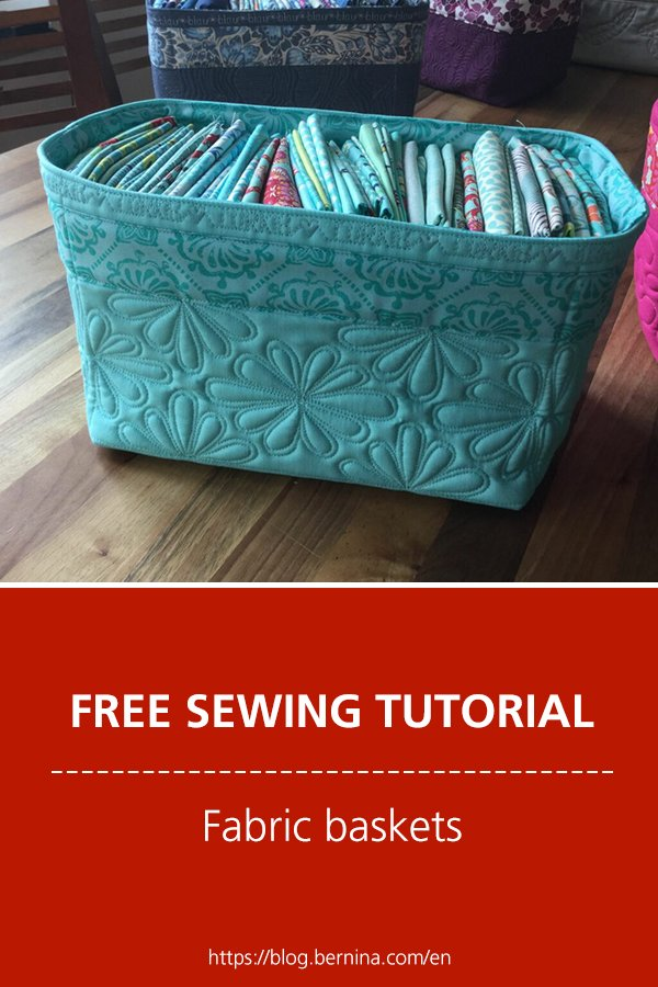 Sewing Instructions For Quick Fabric Baskets