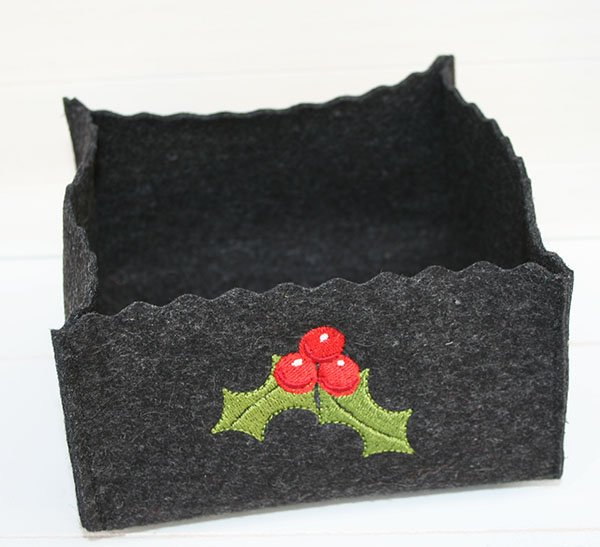 Easy instructions for sewing a felt basket (with free embroidery template)