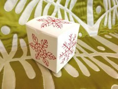 How to make n embroidered paper gift box