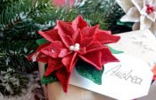 How to make a poinsettia decoration (with free template)