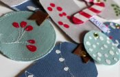 Sewing beautiful fabric gift tags (with free templates)