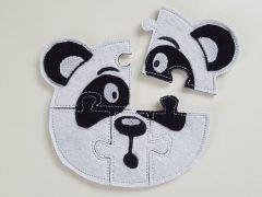 How to make a felt panda puzzle