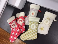 Making embroidered Christmas stockings (with free embroidery template)