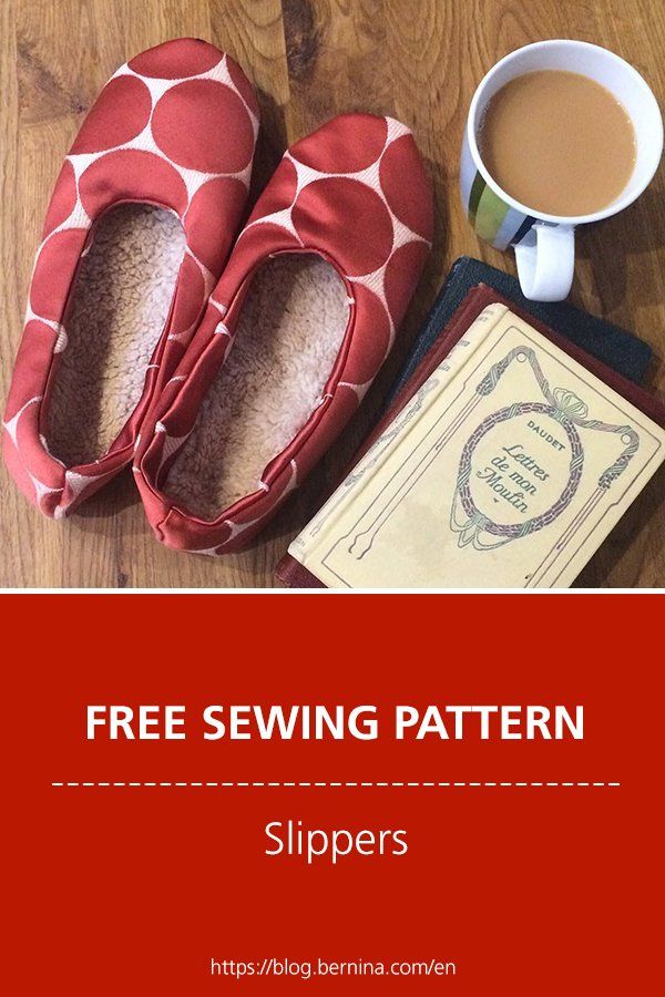 Free sewing pattern and instructions soft slippers