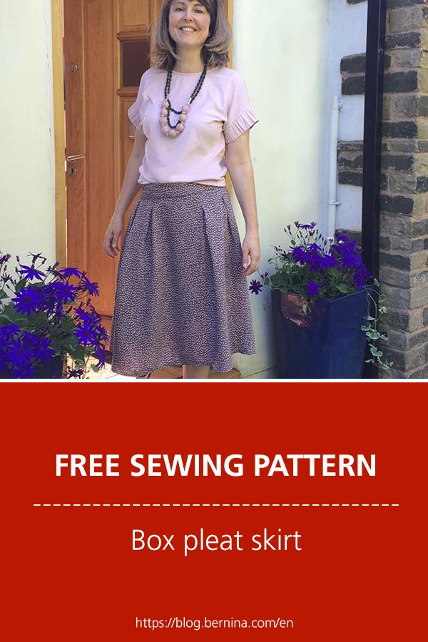 Free sewing pattern and instructions for a beautiful pleat skirt