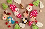 How to make a festive napkin rings from felt scraps
