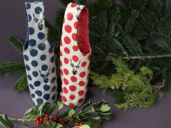 Easy instructions for sewing a bottle bag (with free pattern)