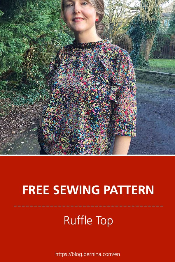 Free sewing pattern and instructions for a beautiful ruffle top