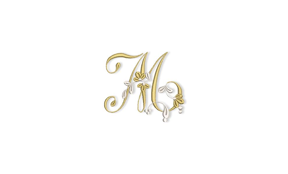 Golden Floral Alphabet Letter M Bernina Blog