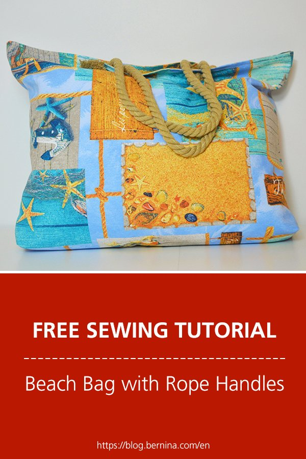 Free sewing instructions: Beach Bag with Rope Handles