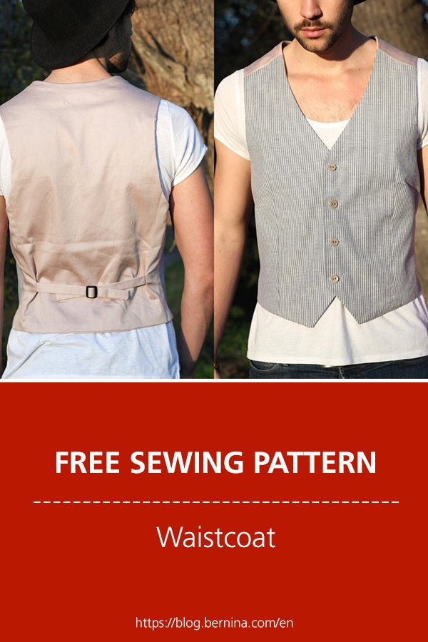 Free sewing instructions: How to sew waistcoat for a dapper dad or special guy