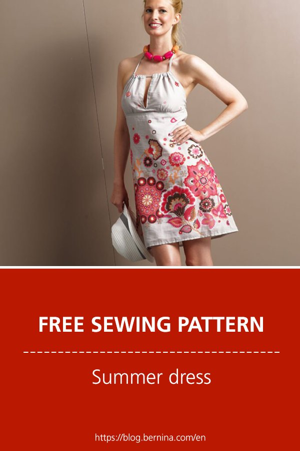 Free sewing instructions: Summer dress