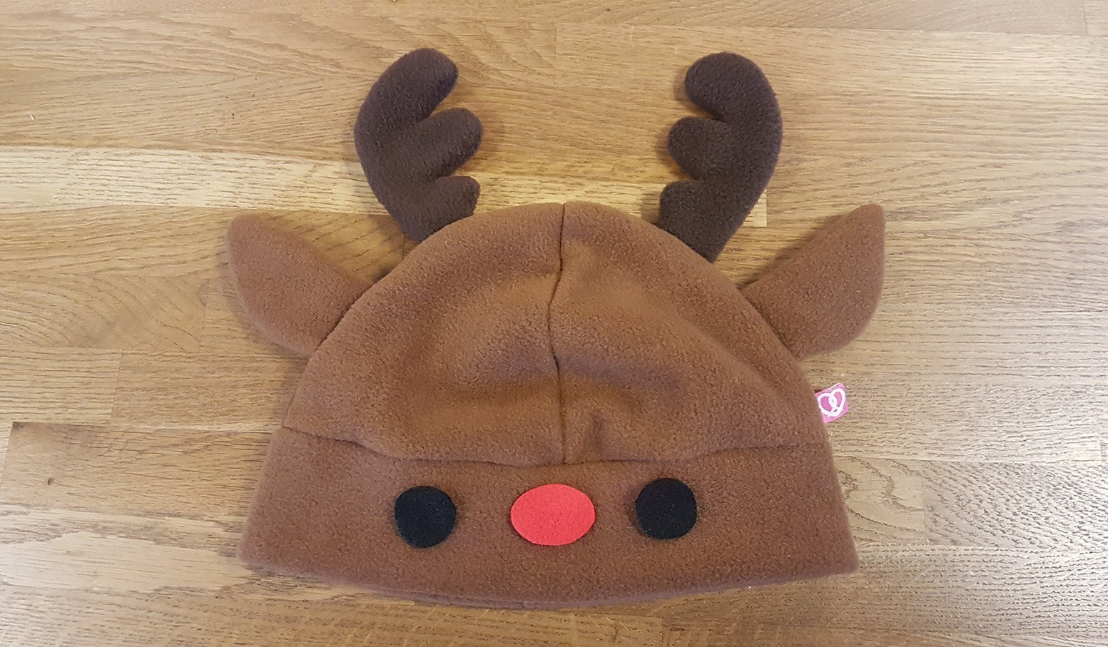 Sewing instructions for a cute reindeer hat