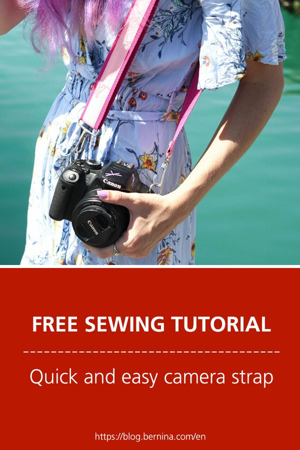 Free sewing instructions: Quick and easy camera strap