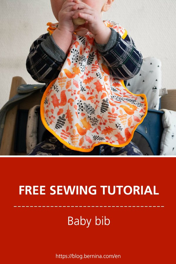 Sewing techniques & tutorials: Baby bib