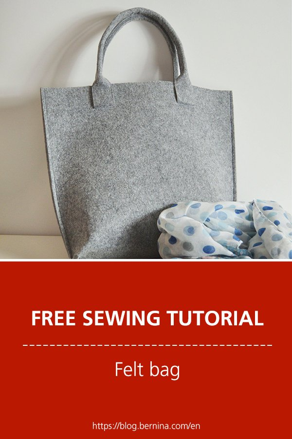 Free sewing instructions for a beautiful felt bag