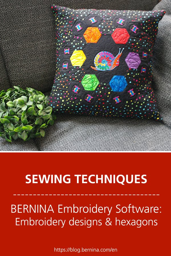 BERNINA Embroidery Software V8: Tula Pink embroidery designs and hexagons
