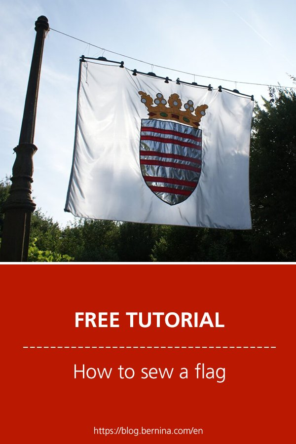 Free sewing instructions: How to sew a flag
