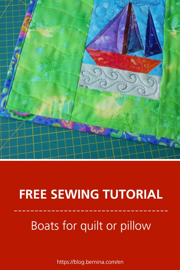 Free sewing instructions: Boats for quilt or pillow
