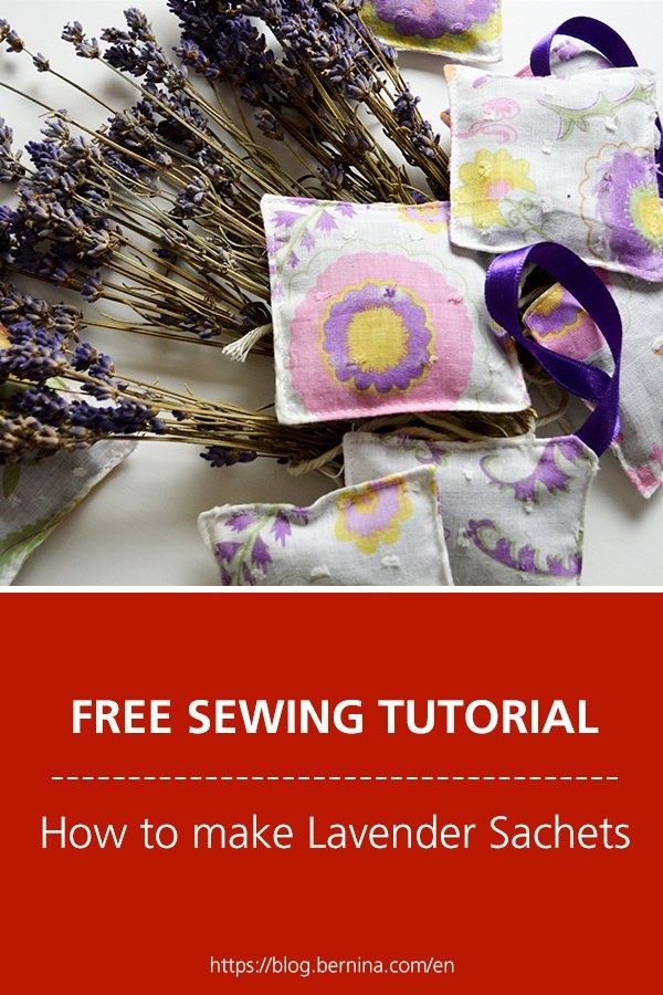 Free sewing instructions: How to make Lavender Sachets